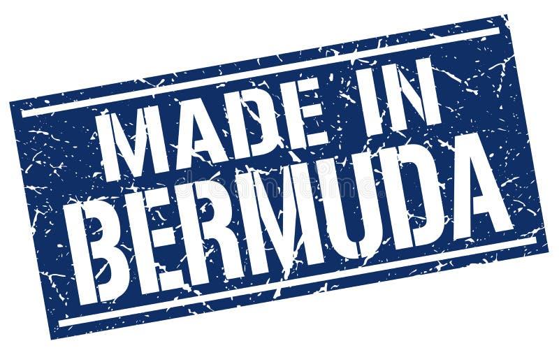 Gjort i den Bermuda stämpeln stock illustrationer