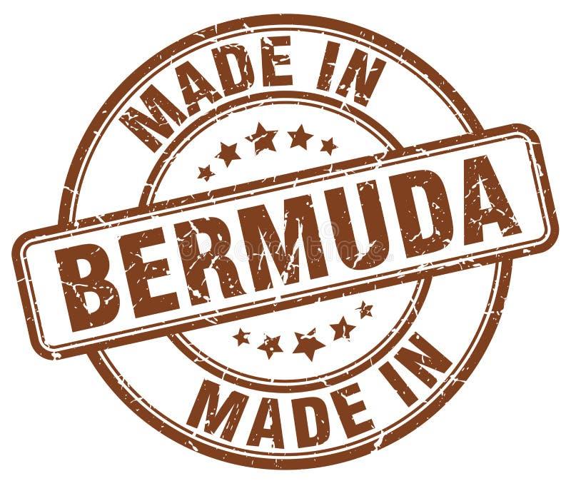 Gjort i den Bermuda stämpeln vektor illustrationer