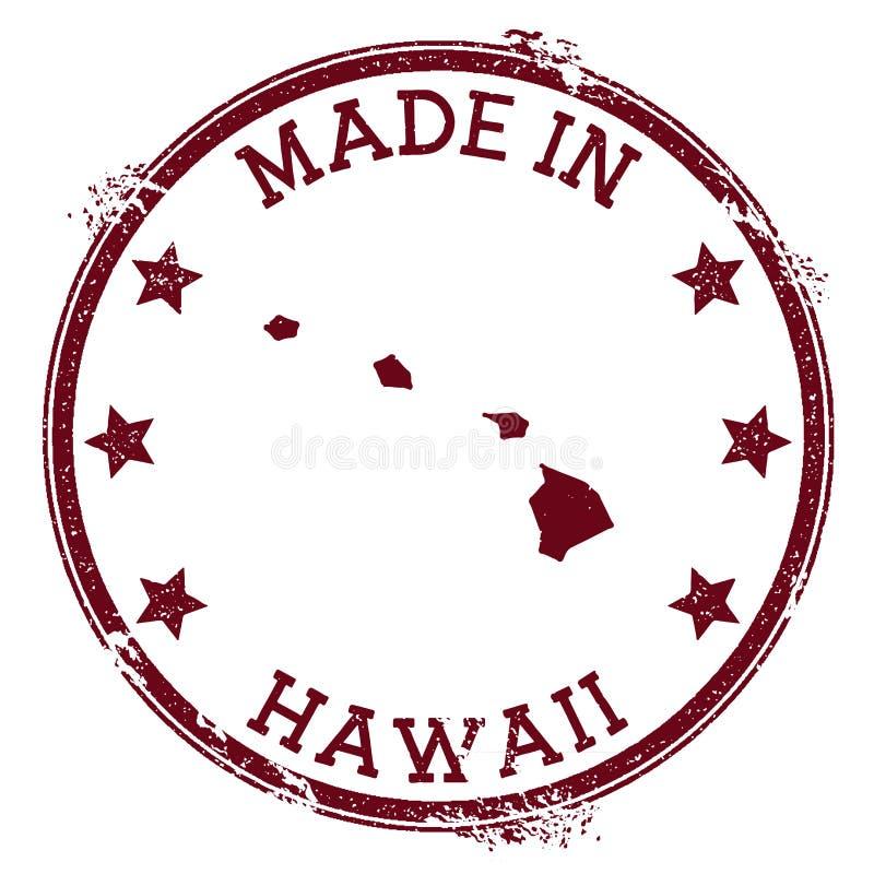 Gjort i den Hawaii stämpeln stock illustrationer
