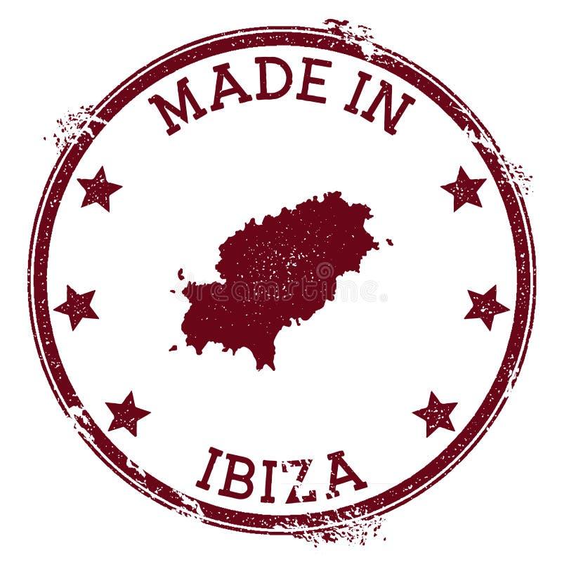 Gjort i den Ibiza stämpeln royaltyfri illustrationer