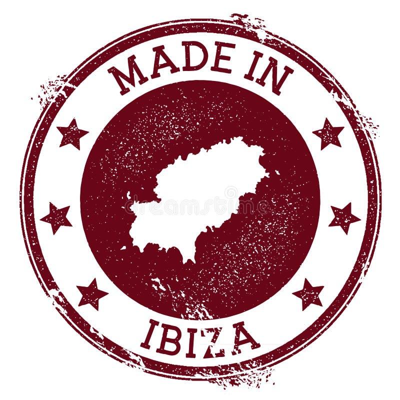 Gjort i den Ibiza stämpeln stock illustrationer