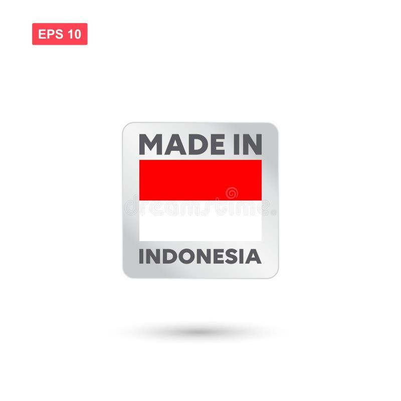 Gjort i den indonesia vektorn royaltyfri illustrationer