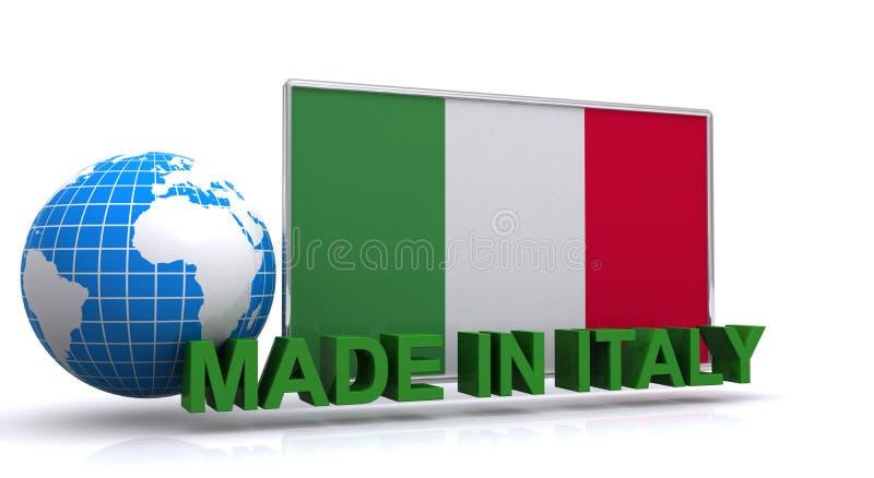 Gjort i den Italien illustrationen royaltyfri illustrationer