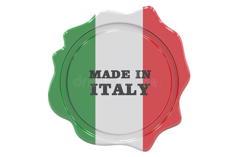 Gjort i den Italien skyddsremsan, stämpel 3d stock illustrationer