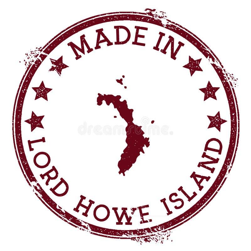 Gjort i den Lord Howe Island stämpeln royaltyfri illustrationer