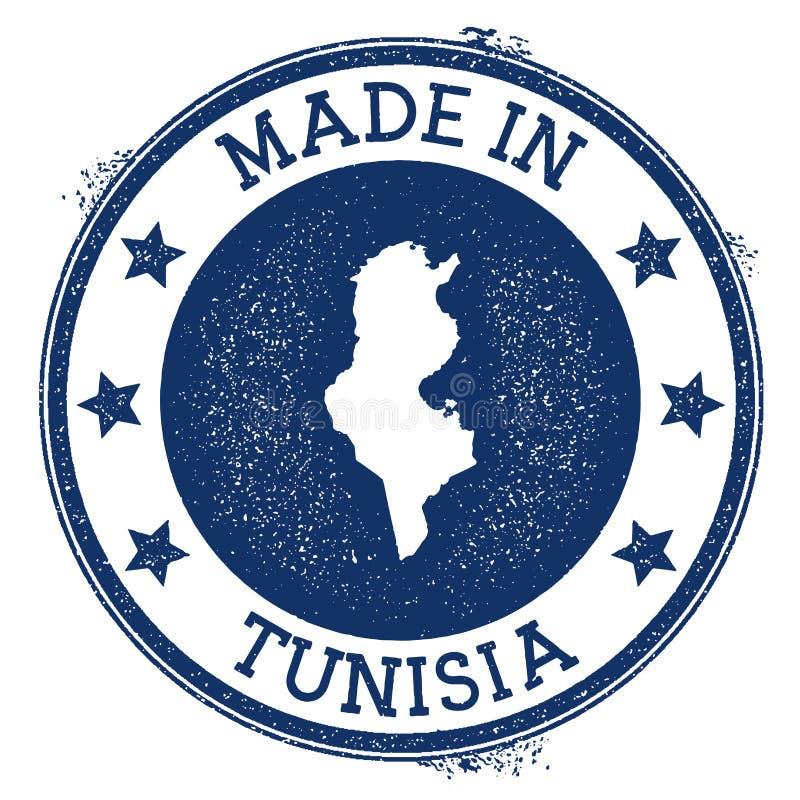 gjort i den Tunisien stämpeln stock illustrationer