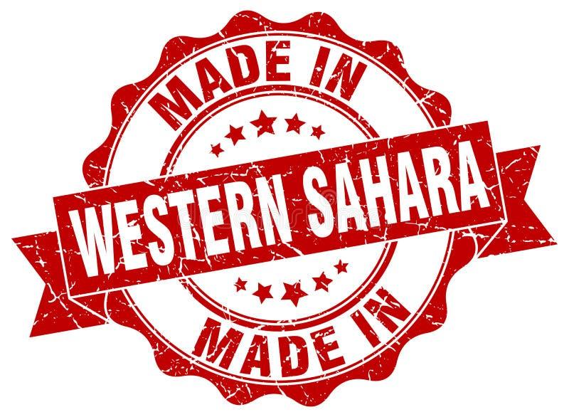 Gjort i den Västsahara skyddsremsan vektor illustrationer