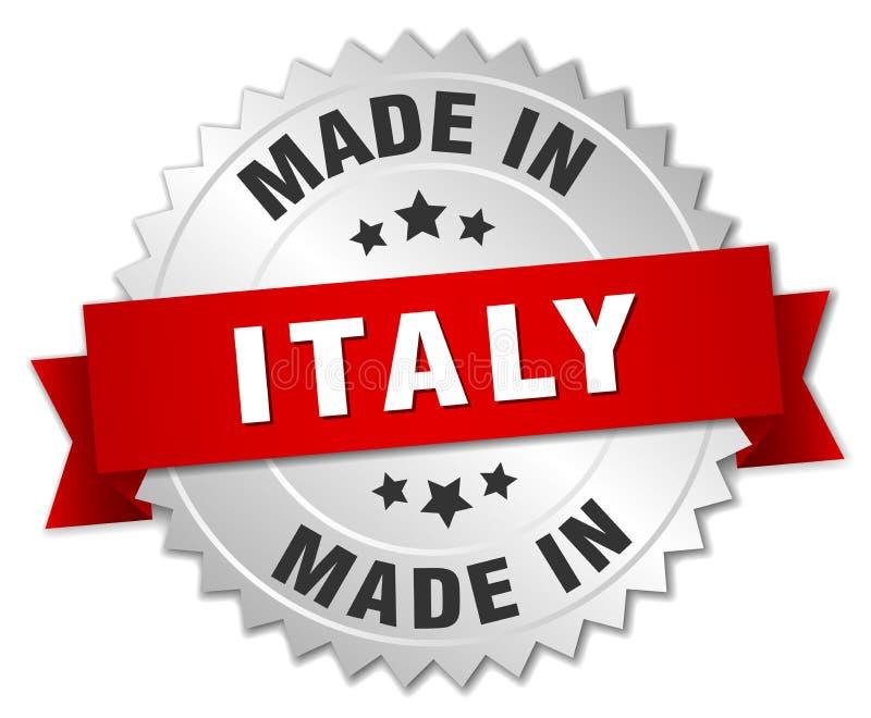 Gjort i det Italien emblem vektor illustrationer