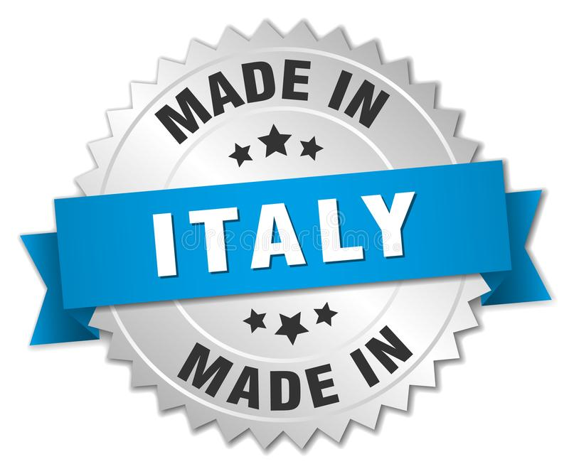 Gjort i det Italien emblem royaltyfri illustrationer