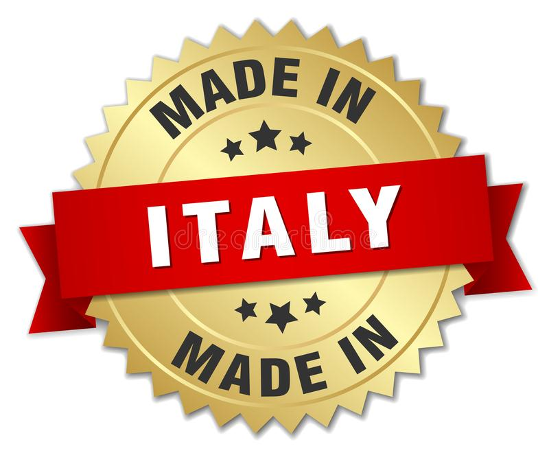 Gjort i det Italien emblem stock illustrationer