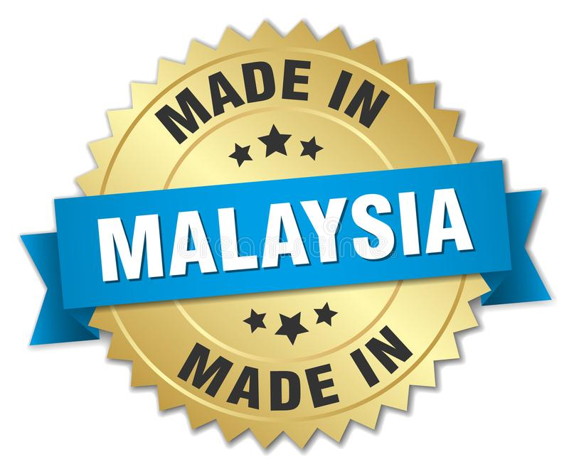 gjort i det Malaysia emblemet royaltyfri illustrationer