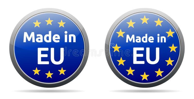 Gjort i EU stock illustrationer