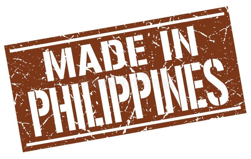 gjort i Filippinernastämpel vektor illustrationer