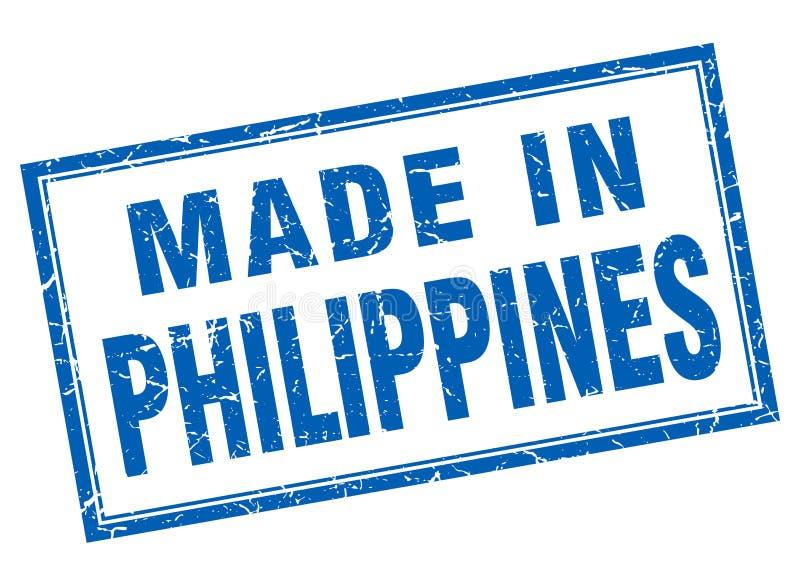 gjort i Filippinernastämpel royaltyfri illustrationer