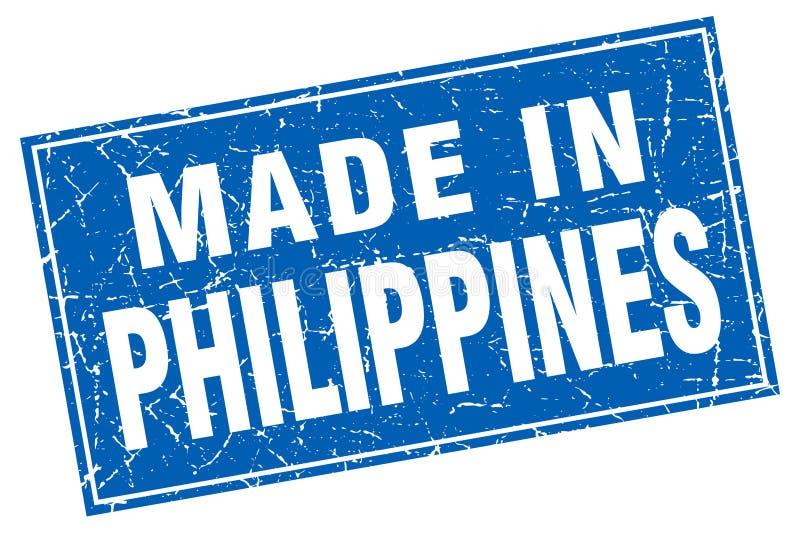 gjort i Filippinernastämpel stock illustrationer