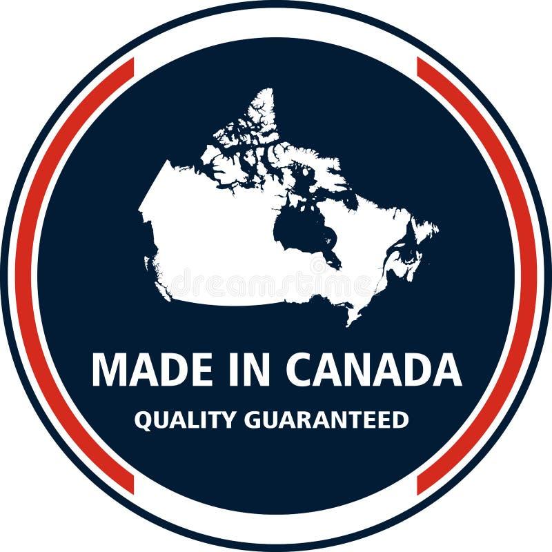 Gjort i Kanada den kvalitets- stämpeln också vektor för coreldrawillustration vektor illustrationer