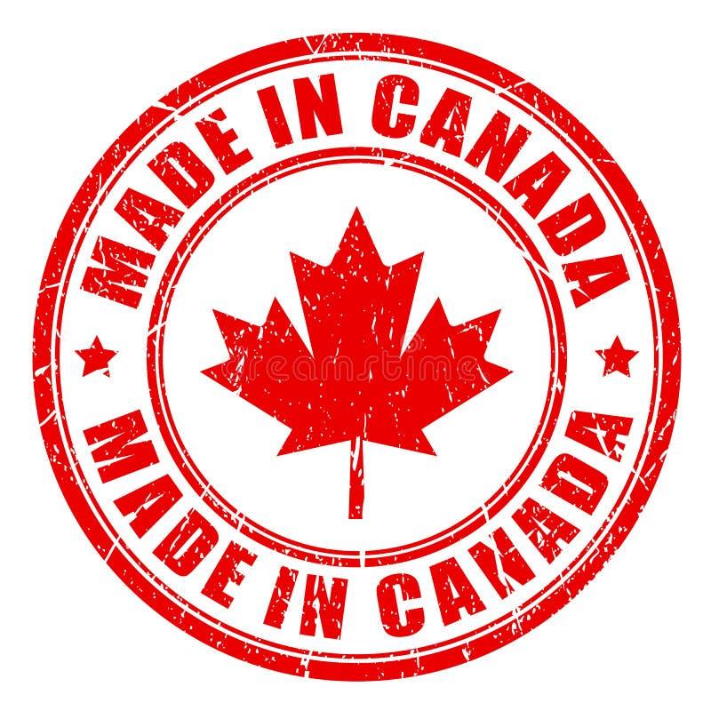 Gjort i Kanada den Rubber stämpeln stock illustrationer