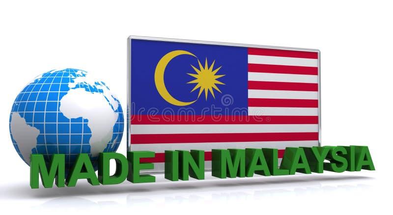 Gjort i Malaysia stock illustrationer