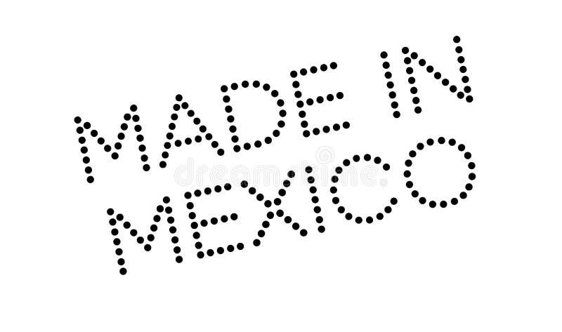 Gjort i Mexico den rubber stämpeln stock illustrationer