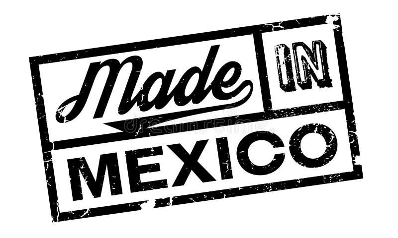 Gjort i Mexico den rubber stämpeln royaltyfri illustrationer