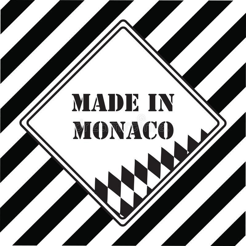 Gjort i Monaco stock illustrationer
