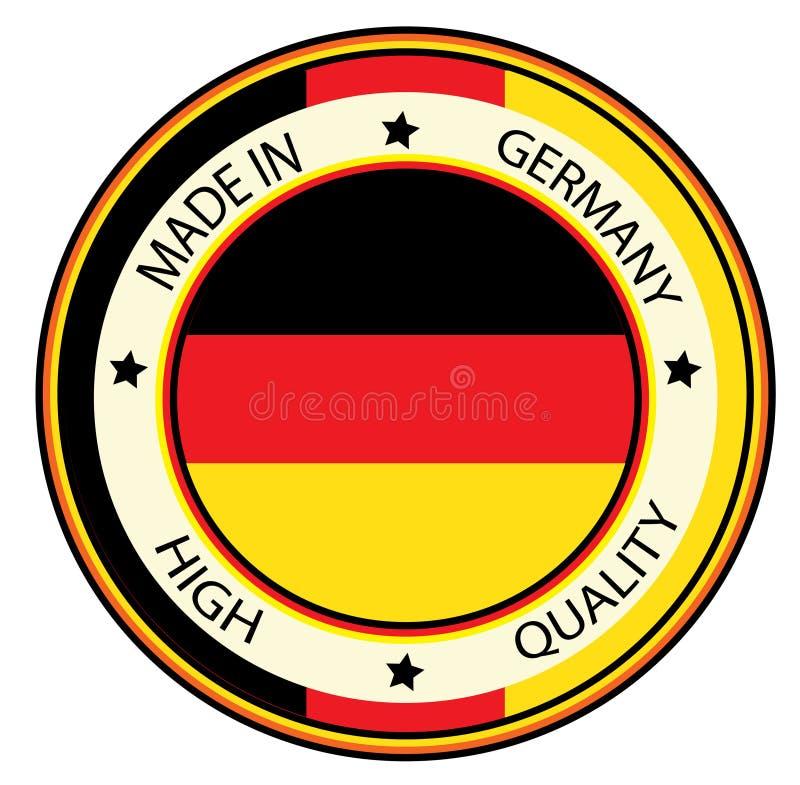 Gjort i Tyskland royaltyfri illustrationer