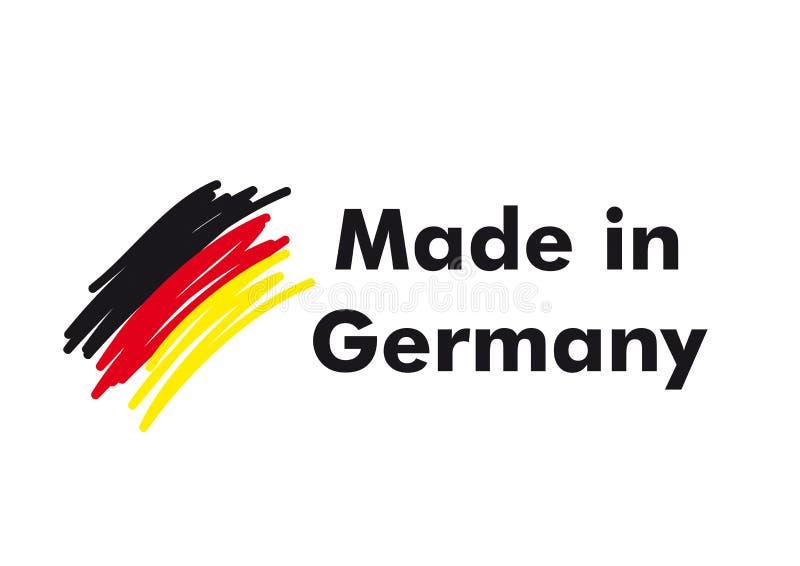 Gjort i Tyskland vektor illustrationer
