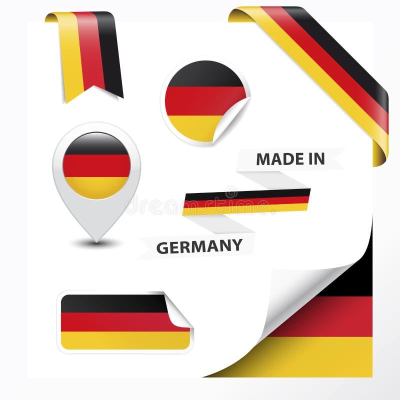 Gjort i Tysklandsamling stock illustrationer