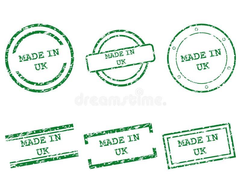Gjort i UK-stämplar vektor illustrationer