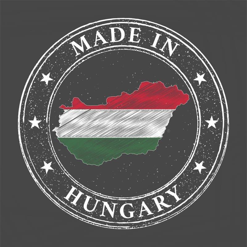Gjort i Ungernmall vektor illustrationer