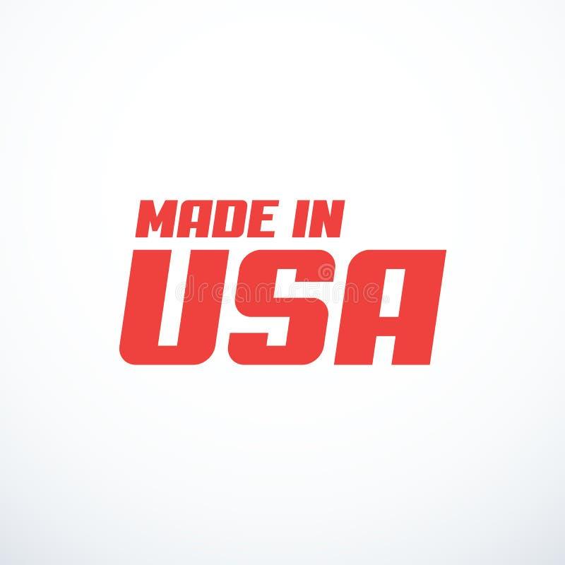Gjort i USA-emblem ocks? vektor f?r coreldrawillustration royaltyfria bilder