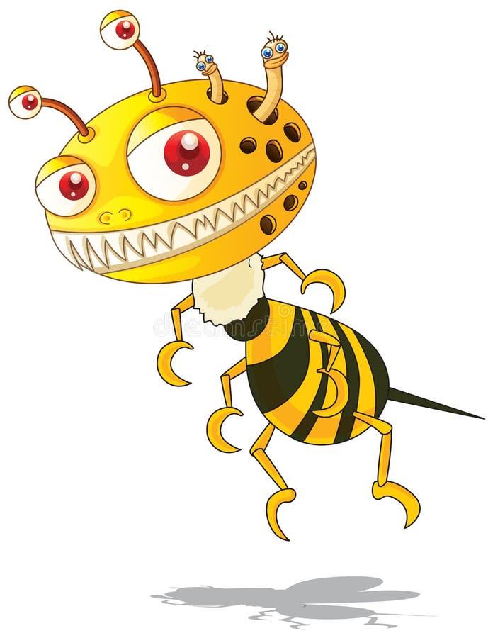 Download Gjort Randig Flygmonster Med Guling Och Svart Stock Illustrationer - Illustration av monster, bana: 78731187