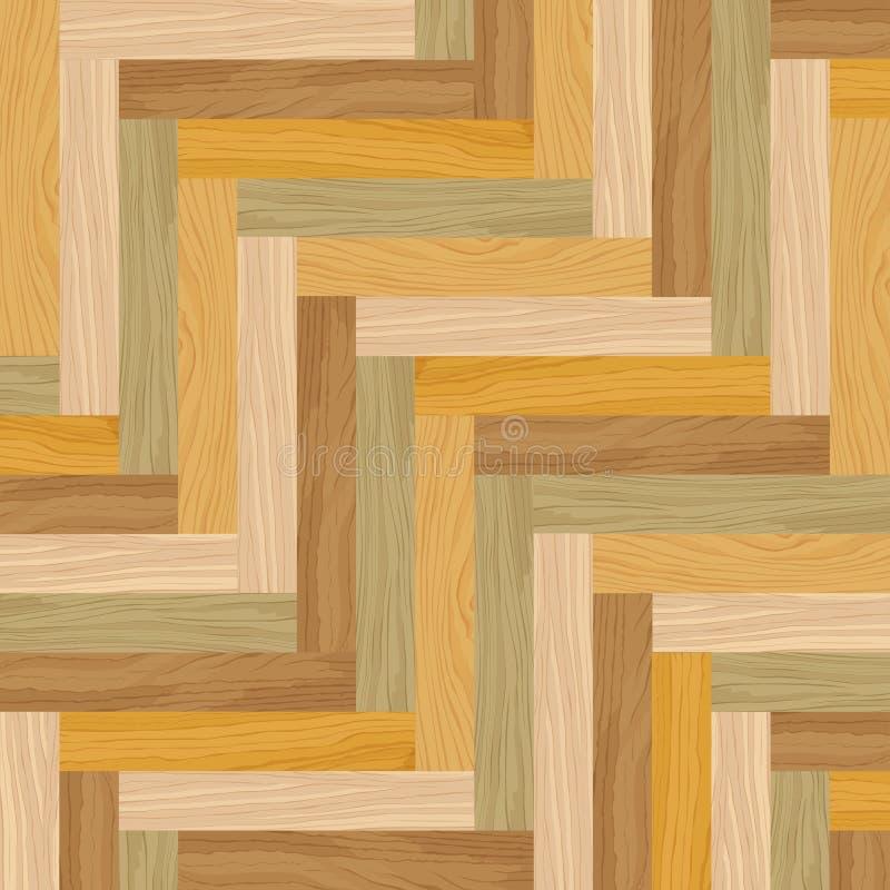 Gjort randig wood golv för abstrakt mångfärgad tegelplatta stock illustrationer