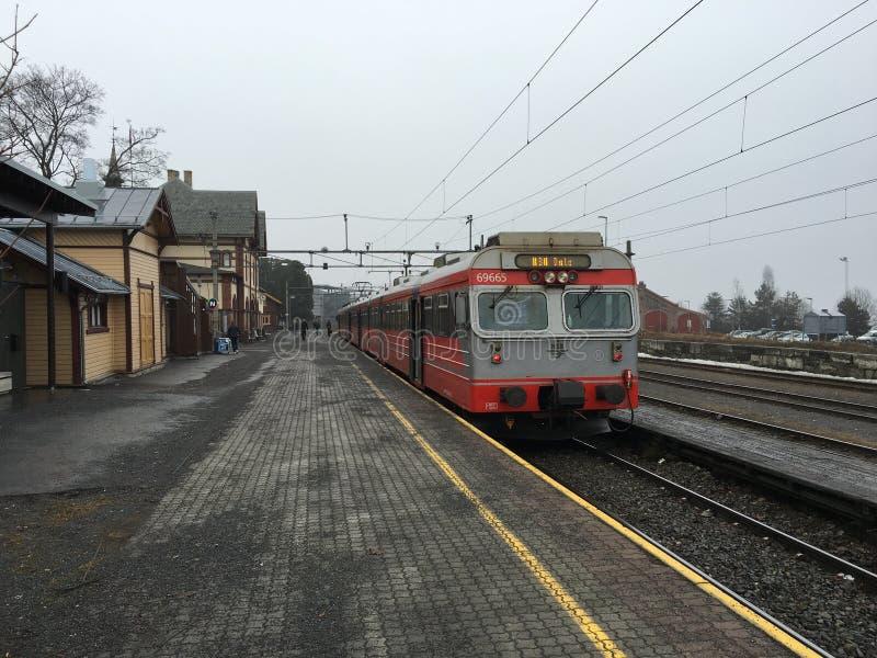 Gjovik火车站 库存图片