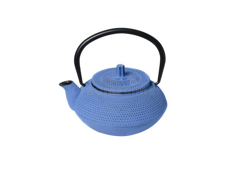Gjutjärnkokkärl för te i kinesisk stil fotografering för bildbyråer