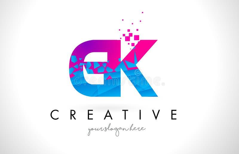 gk g k letter logo with shattered broken blue pink texture desig rh dreamstime com gl logo designs gsk logo