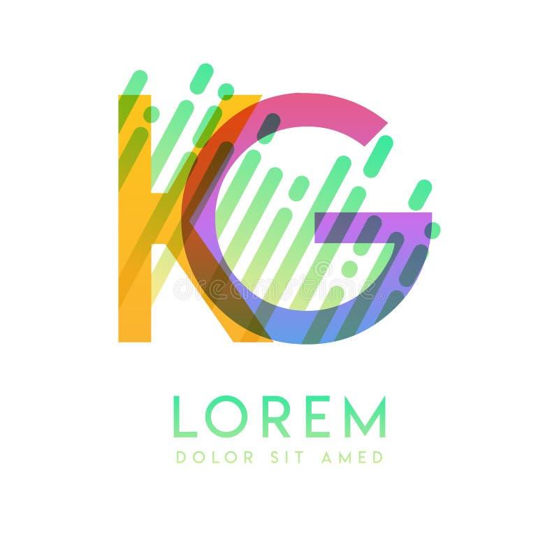 Gk G K Colorful Alphabet Letter Logo Icon Template Vector