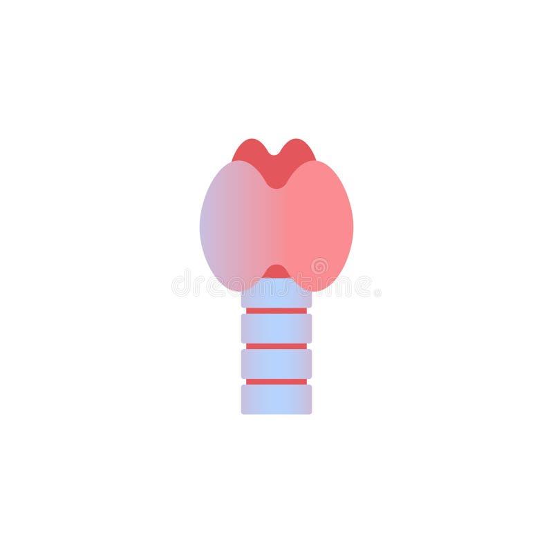 Glândula de tiroide com sistema da endocrinologia da traqueia e da laringe ou cuidados médicos da anatomia do órgão humano da sec ilustração royalty free