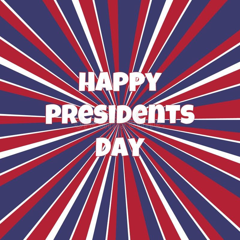 Glückliche Hintergrundschablone Präsidenten Day stock abbildung
