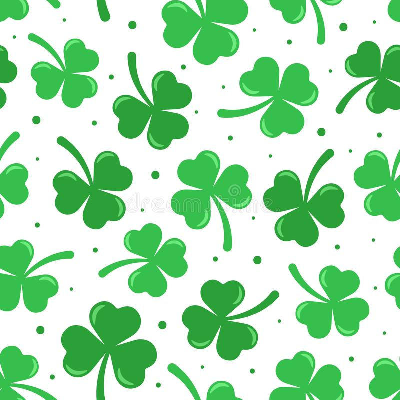 Glücklichen St Patrick nahtloses Muster Tagesdes vektors stock abbildung