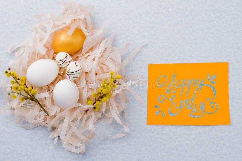 Glücklicher empfindlicher Hintergrund Ostern stockfoto