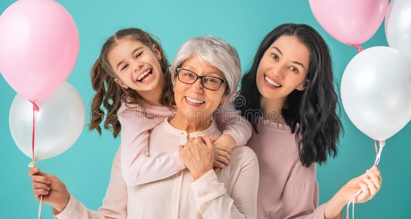 Glücklicher Frauen ` s Tag stockbilder