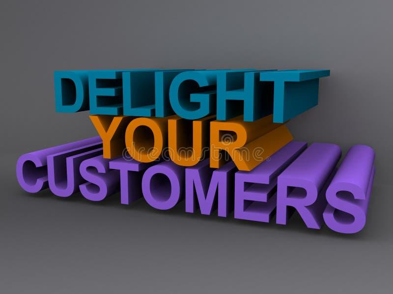 Glädja dina kunder stock illustrationer