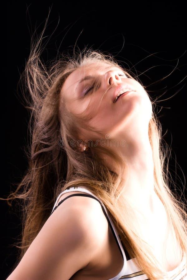 glädja framsidakvinna arkivbild