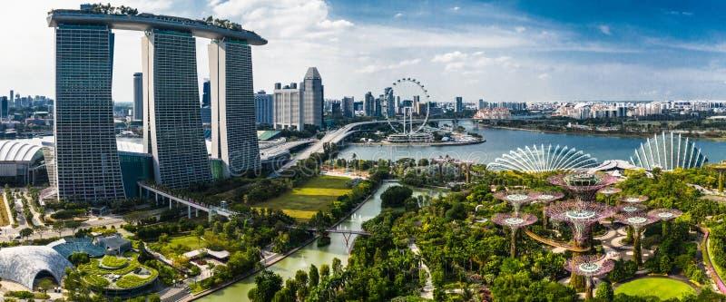 Glädje av liv på trädgårdar vid fjärden, Singapore arkivbild