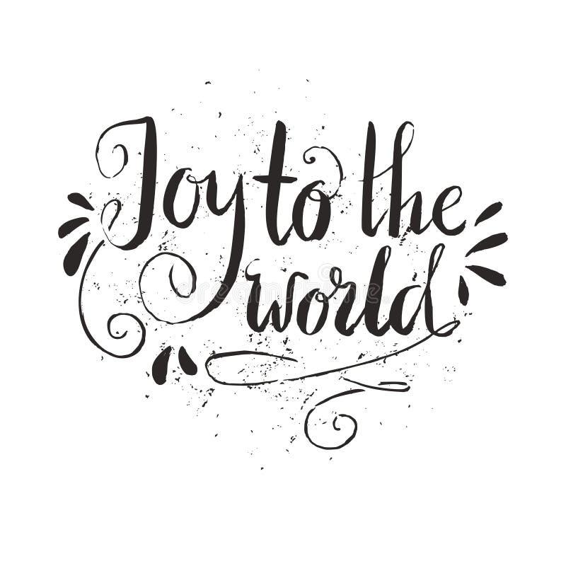 glädje till världen royaltyfri illustrationer