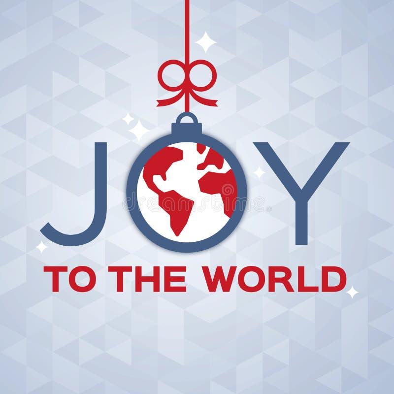 glädje till världen stock illustrationer