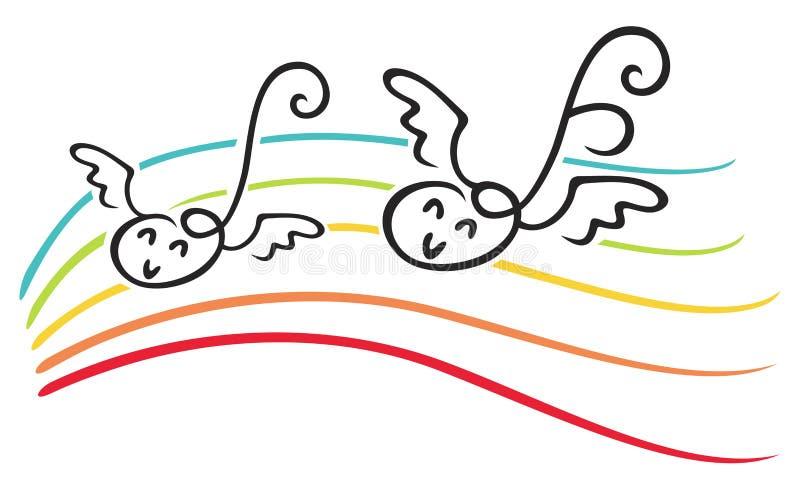 glädjemusik royaltyfri illustrationer