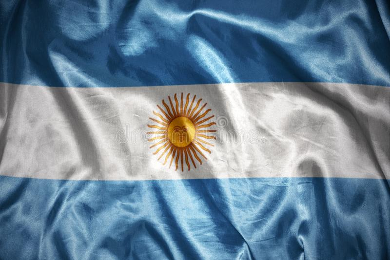 glänsande argentinean flagga stock illustrationer