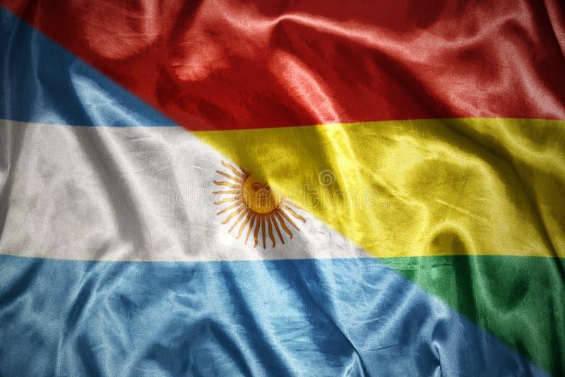 glänsande argentinean flagga royaltyfri illustrationer